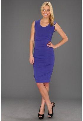 Nicole Miller Tidal Pleat Jersey Dress (Cobalt) - Apparel
