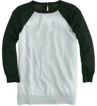 J.Crew Merino Tippi baseball sweater