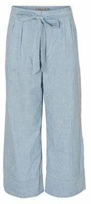 Vero Moda Mia High-Rise Loose Chambray Stripe Pants