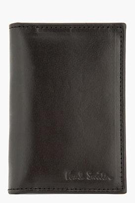 Paul Smith Black Leather Gold-Lined Slim Cardholder