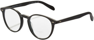 Oliver Peoples Elins Round Fashion Glasses, Matte Black