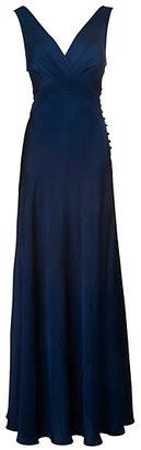 Ghost Monique Cross Front Dress, Navy