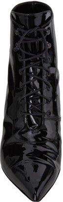 Saint Laurent Point-Toe Ankle Booties-Black