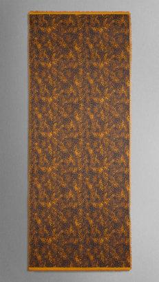 Burberry Animal Print Silk Scarf
