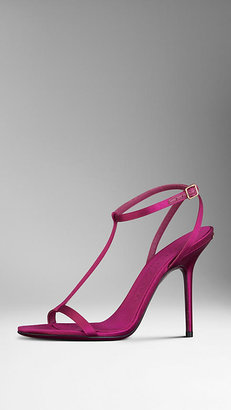 Burberry Satin Strappy Sandals
