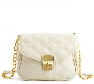 Charlotte Russe Quilted Chain-Strap Cross-Body Bag