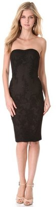 Notte by Marchesa Strapless Lace Corset Dress