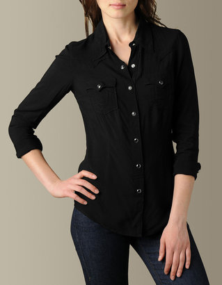 True Religion Womens Mick Rayon Western Shirt