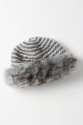 Anthropologie Textured Fur Cloche