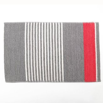 Apt. 9 contrast striped reversible bath rug