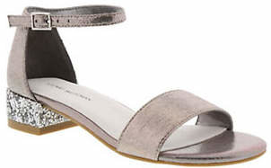 Stuart Weitzman Penelope Glitter Ankle-Strap Sandals