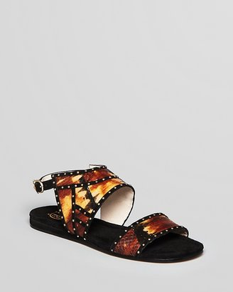 House Of Harlow Flat Sandals - Abra Tie Dye Snake