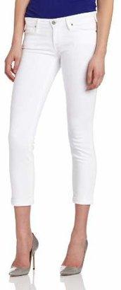 AG Adriano Goldschmied Women's Stilt Roll Up Cigarette Jean in White