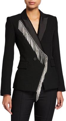 Veronica Beard Clarise Rhinestone Fringe Jacket