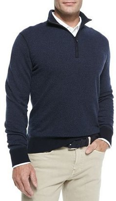 Loro Piana Roadster Half-Zip Cashmere Sweater, Navy $1,450 thestylecure.com