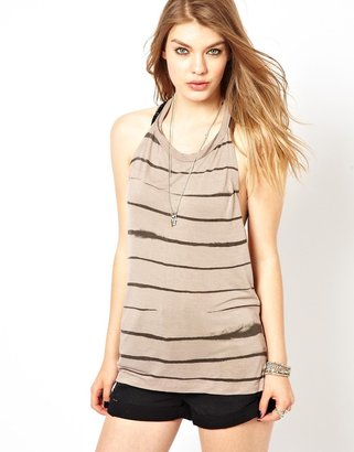 Religion Guardian Printed Backless Top