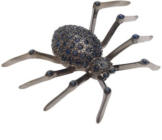 Red Herring Silver gothic spider brooch