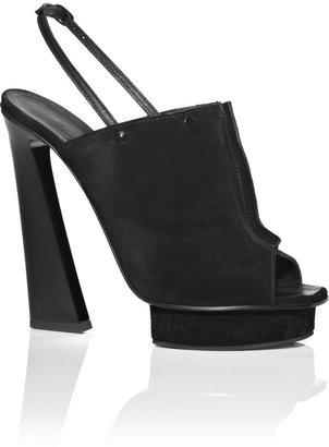 Proenza Schouler Accessories Black Suede Seam Front Heel
