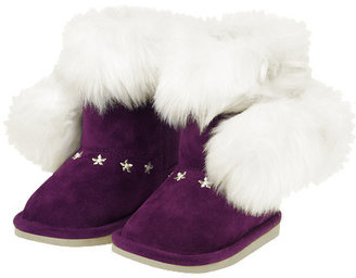 Gymboree Pom Pom Faux Fur Boot