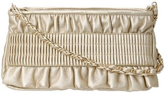 La Regale Zip Top Ruffled Pleat 25469 Clutch