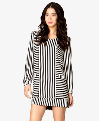 Forever 21 Mixed Stripes Shift Dress