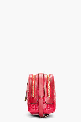 Lanvin Red Quilted Leather Padam Shoulder Bag