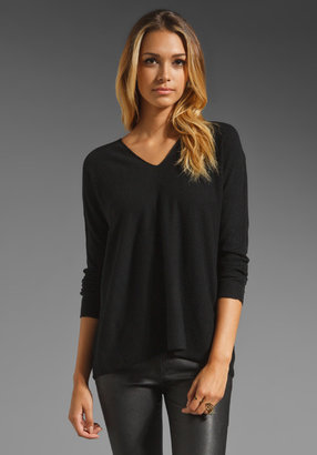 Vince Cashmere Double V Neck Sweater