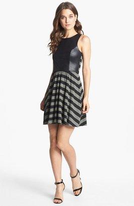 Ella Moss Contrast Panel Stripe Dress