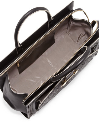 Jason Wu Daphne Laser-Cut East-West Tote Bag, Black