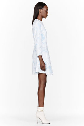 Kenzo Blue and white Cloud Sweater Dress