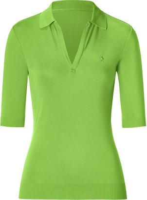 Ralph Lauren Black Lime Open Placket Polo Shirt