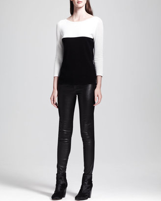 Rag and Bone The Skinny Leather Jeans, Black