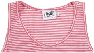 "Erge HighLow Tank Top ""Mini Stripes"" - Neon Pink-S 7/8"