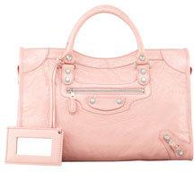 Balenciaga Giant 12 Nickel City Bag, Rose Peche