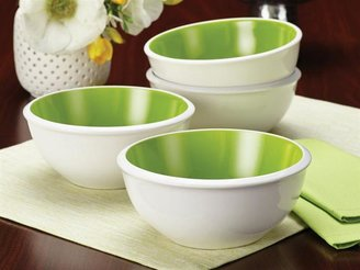 Rachael Ray 4-pc. Rise Cereal Bowl Set, Green