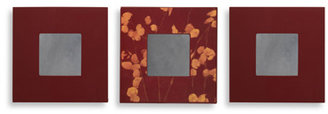 Bed Bath & Beyond Aubergene And Burgundy Decorative Wall Mirrors (Set Of 3)