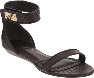 Givenchy Eelskin Two-Piece Flat Sandal