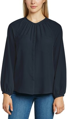 French Connection Women's SUB Silky L/S RD NK Shirt Long Sleeve Top