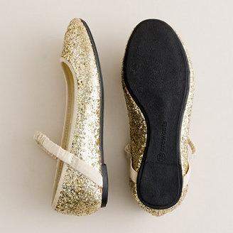 J.Crew Girls' glitter ballet flats