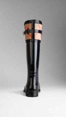 Burberry House Check Detail Rain Boots