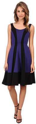 ABS by Allen Schwartz Color Blocked Mid Fit and Flare Dress
