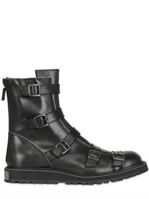 Karl - Leather Combat Boots