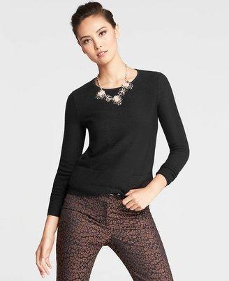 Ann Taylor Tall Merino Wool Blend Two Pocket Sweater