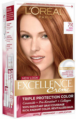 L'Oreal Excellence Triple Protection Permanent Hair Color Creme Red Penny 7R
