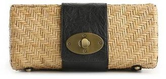 Kelly & Katie Z Weave Straw Clutch