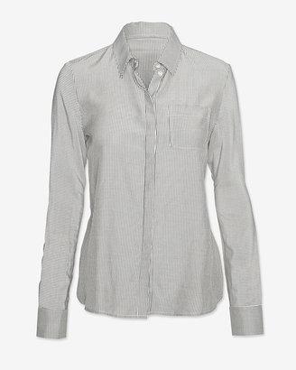 J Brand Ready-to-Wear Oxford Stripe Front Shirt
