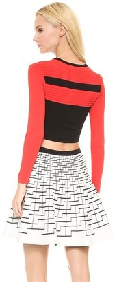 Ohne Titel Stripe Crop Top