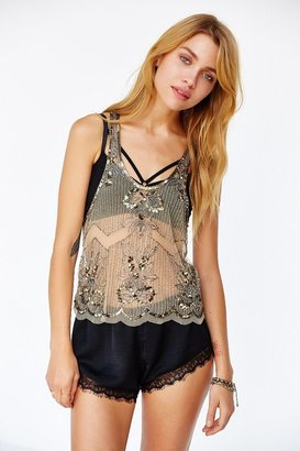 Urban Outfitters Raga Scalloped Embellished Tank Top