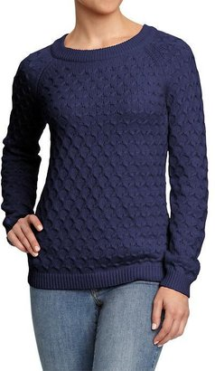 Old Navy Women's Honeycomb-Knit Crew Sweaters