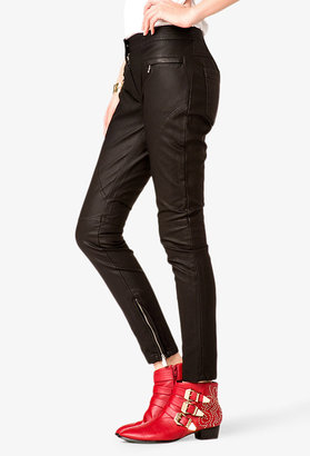 LOVE21 LOVE 21 Zippered Faux Leather Pants